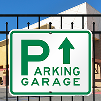 Parking Garage with Up Arrow Signs