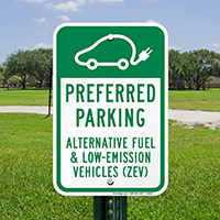 Preferred Parking Alternate Fuel & Low-Emission Vehicles Signs