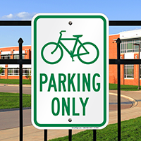 Parking Only Bicycle Graphic Signs