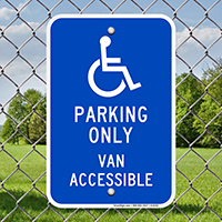 Parking Only Van Accessible Signs
