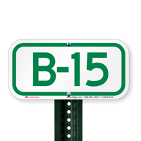 Parking Space Signs B-15