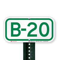 Parking Space Signs B-20