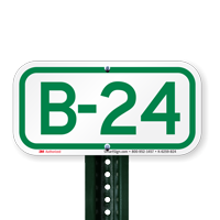 Parking Space Signs B-24