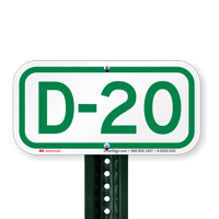 Parking Space Signs D-20