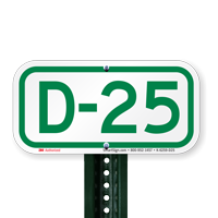 Parking Space Signs D-25