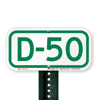 Parking Space Signs D-50