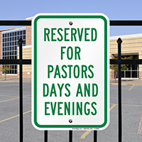 Pastors Days Evenings Signs
