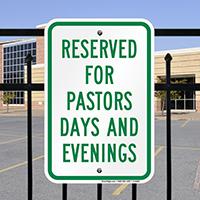 Pastors Days Evenings Signs
