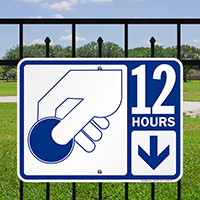 12 Hour Pay Parking Signs with Symbol