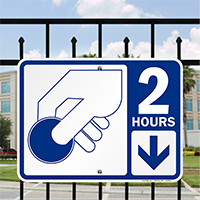 2 Hour Pay Parking Signs with Symbol