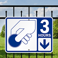 3 Hour Pay Parking Signs with Symbol