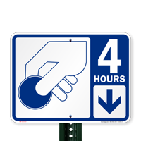 4 Hour Pay Parking Signs with Symbol