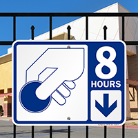 8 Hour Pay Parking Signs with Symbol