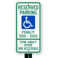 Virginia Reserved Parking, Van Accessible Signs