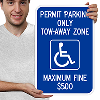 Permit Parking Only Tow Zone Signs