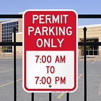 Permit Time Limit Parking Signs