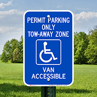 Georgia Accessible Permit Parking, Tow-Away Zone Signs