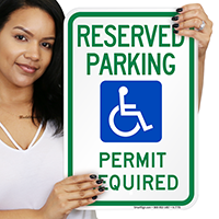 Reserved Handicap Parking Signs (With Graphic)