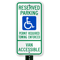 Arkansas Reserved ADA Parking, Van Accessible Signs