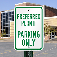 Preferred Permit Parking Only Signs
