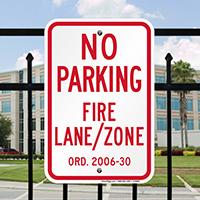 New Jersey, Princeton Fire Lane No Parking Signs