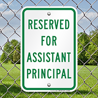 Reserved for Assistant Principal Sign