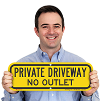 Private Driveway, No Outlet Signs