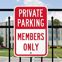 Private Parking, Members Only Signs