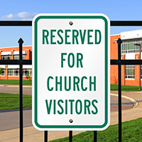 Reserved for Church Visitors Signs