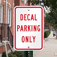 Decals PARKING ONLY