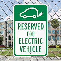 Reserved For Electric Vehicle Signs