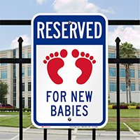 Reserved For New Babies With Symbol Signs