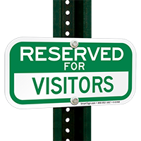 RESERVED FOR VISITORS Signs