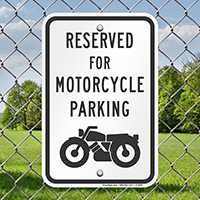 Reserved For Motorcycle Parking Reserved Parking Signs