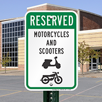 Reserved Motorcycles And Scooters with Graphic Signs
