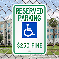 Reserved Parking Fine Imposed Signs (With Graphic)