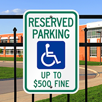 Reserved Parking Handicapped Signs