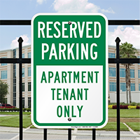 Reserved Parking Apartment Tenant Only Signs