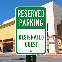 Designated Guest Parking Signs