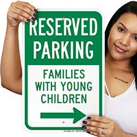 Parking for Families With Young Children Signs