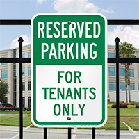 Reserved Parking For Tenants Only Signs