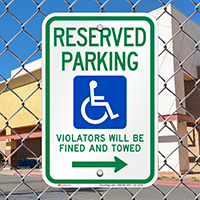 Reserved Parking Violators Fined Towed Right Signs