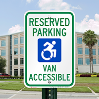New York Reserved Parking, Van Accessible Sign