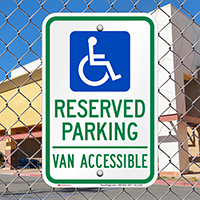 Texas Reserved Parking, Van Accessible Signs
