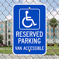 Michigan Reserved Parking, Van Accessible Signs
