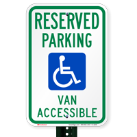 Reserved Parking Van Accessible Signs (with Graphic)