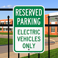 Reserved Parking - Electric Vehicles Only Signs