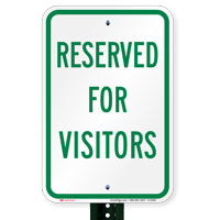 Reserved Parking For Visitors Signs