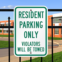 Resident Parking Violators Towed Signs