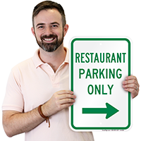 Restaurant Parking Arrow Signs